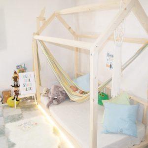 Cama casita estilo montessori personalizada
