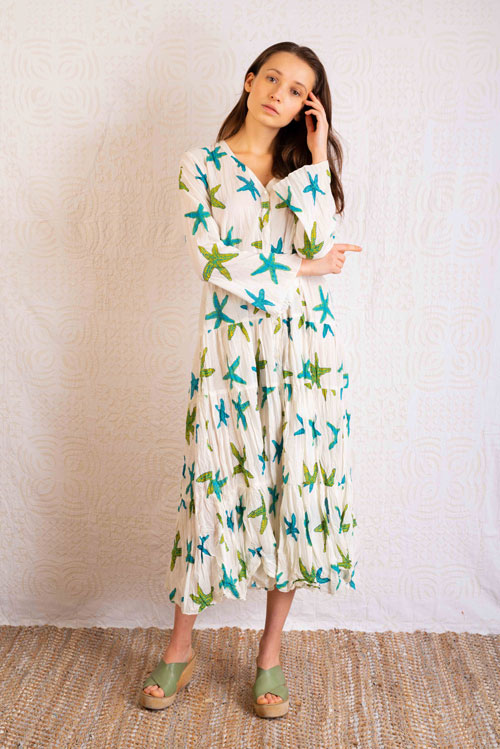 Vestido verano Paula 100% algodón de comercio justo