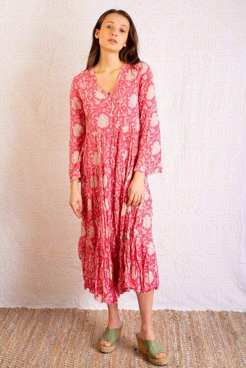 vestido verano 100% algodón comercio justo