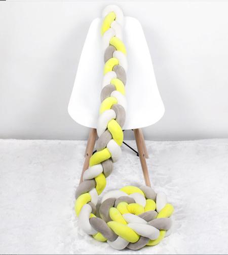 chichonera protector de cuna o cama trenza de algodón en Mallorca